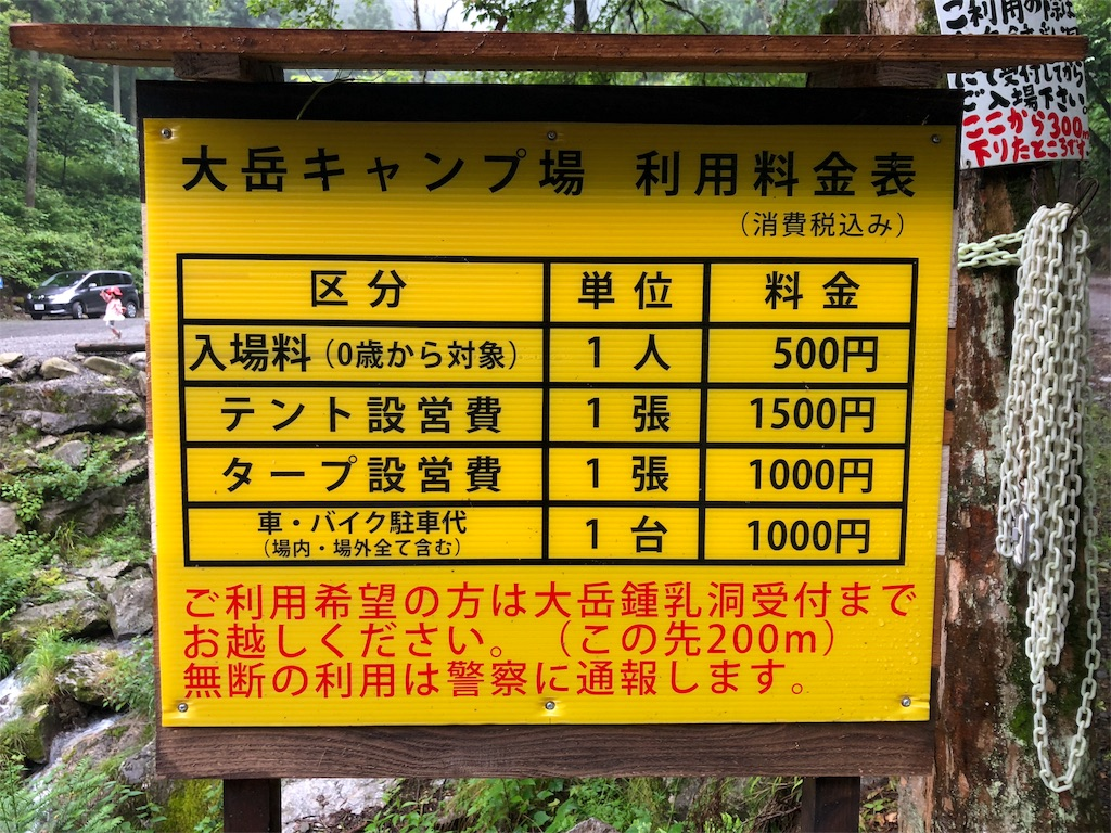 大岳 おおだけ キャンプ場でデイキャンプしてきた 写真多め