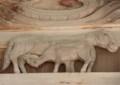相馬太田神社 馬の親子の彫物121231