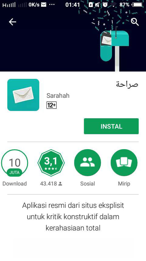 Apa itu Aplikasi Sarahah