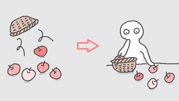 腐ったリンゴの選別