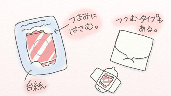 コンドーム 台紙