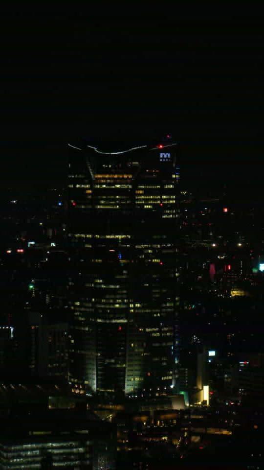 東京タワーより六本木ヒルズを見る