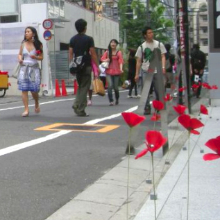 poppies in the city 2の画像