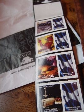 スコットランドの切手かっこいい