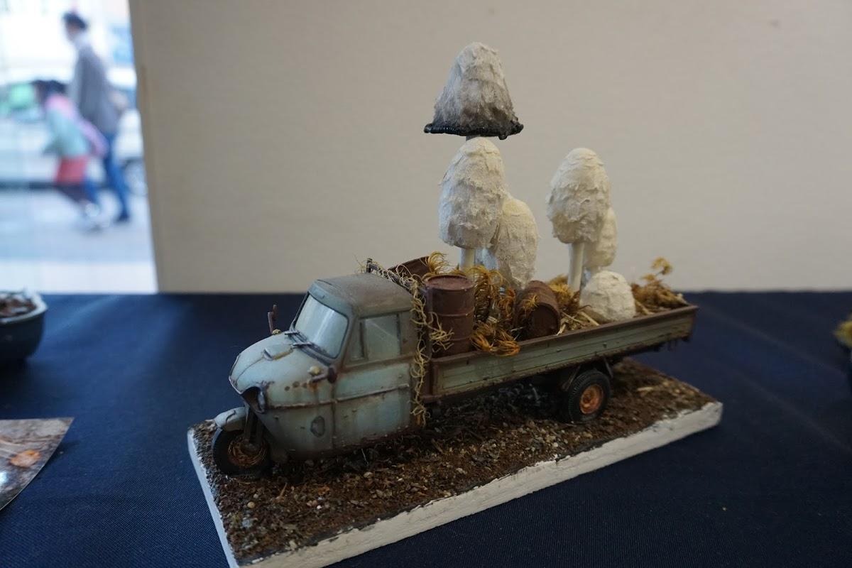 粘土で作ったリアルなきのこ!きのこ盆栽家 渋谷卓人さんの個展に行ってきました