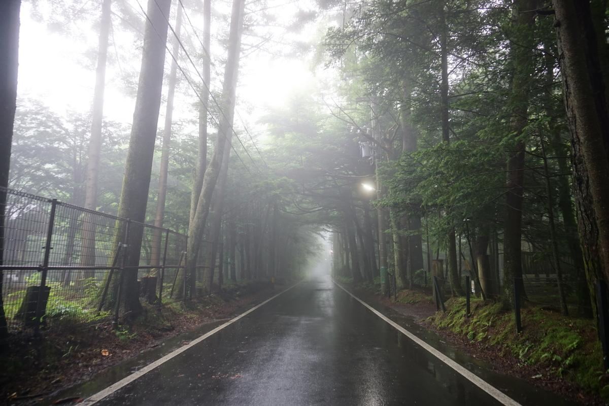 霧の出ている軽井沢
