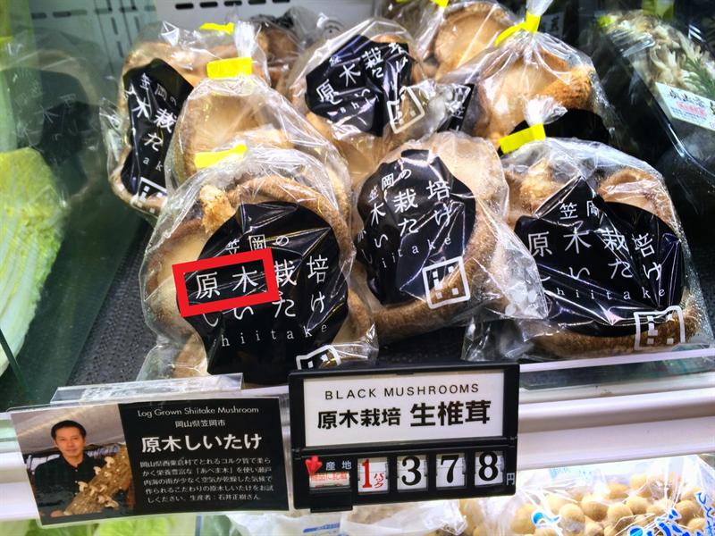 原木椎茸(げんぼくしいたけ)
