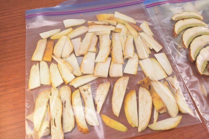 アカヤマドリの冷凍保存