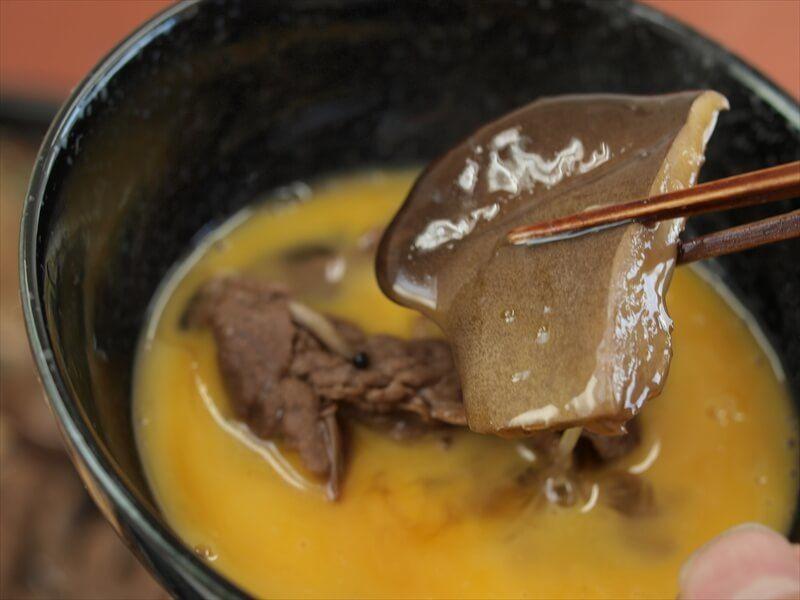 クロアワビタケのすき焼き
