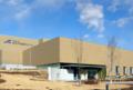 群大の重粒子線医学研究センターの全景 65m(正面)×45m