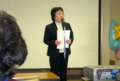 群馬がん患者団体連絡協議会の本田摂子会長の開会挨拶