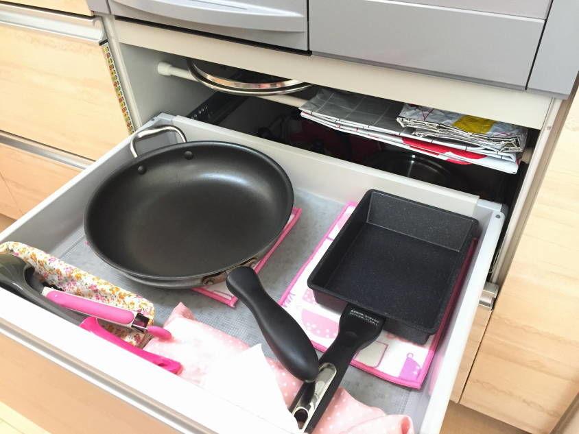 キッチンの最短距離収納