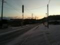 宿泊場所近く。雪は軽め。