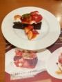 [twitter] COCO'S苺の濃厚チョコケーキなう