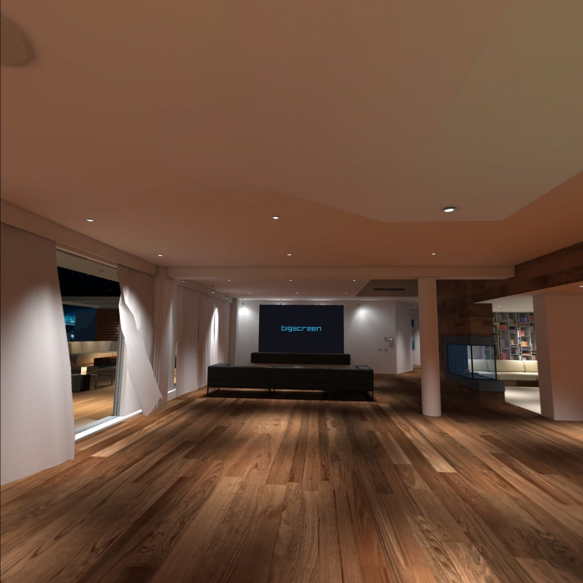 Oculus Questのアプリ「Bigscreen」の様子3