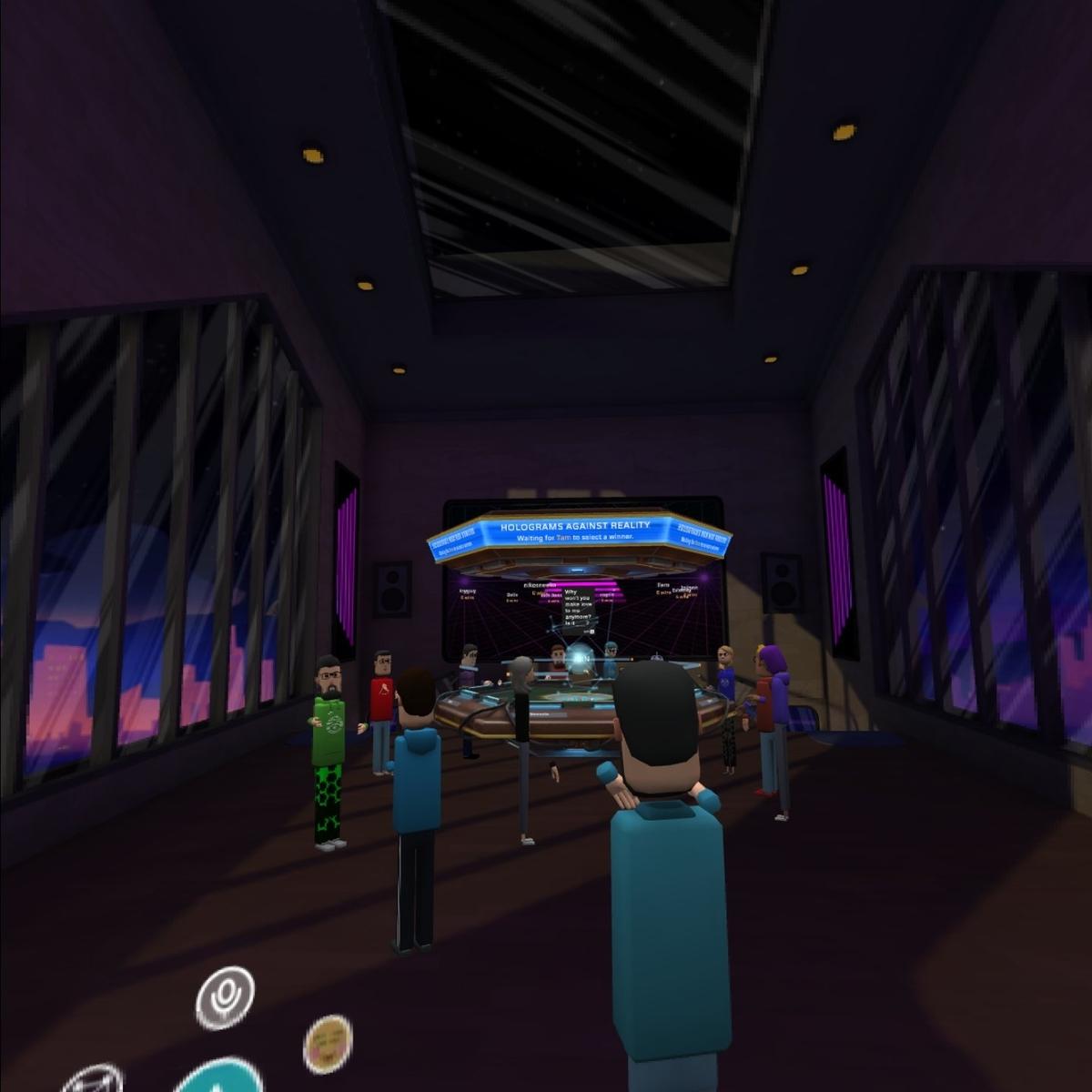 Oculus Questのアプリ「AltspaceVR」の様子