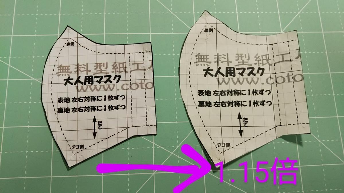 マスク 大人 手作り 型紙