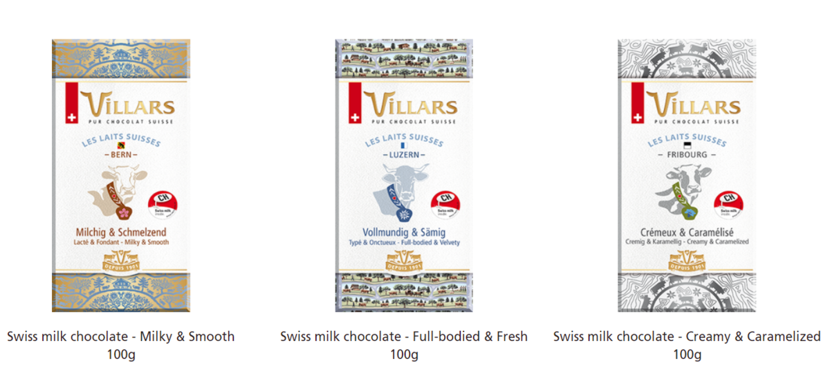 Villars-3 Bar Chocolates
