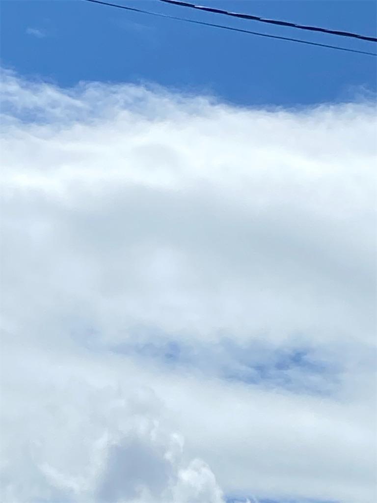 入道雲がモクモクと現れました。