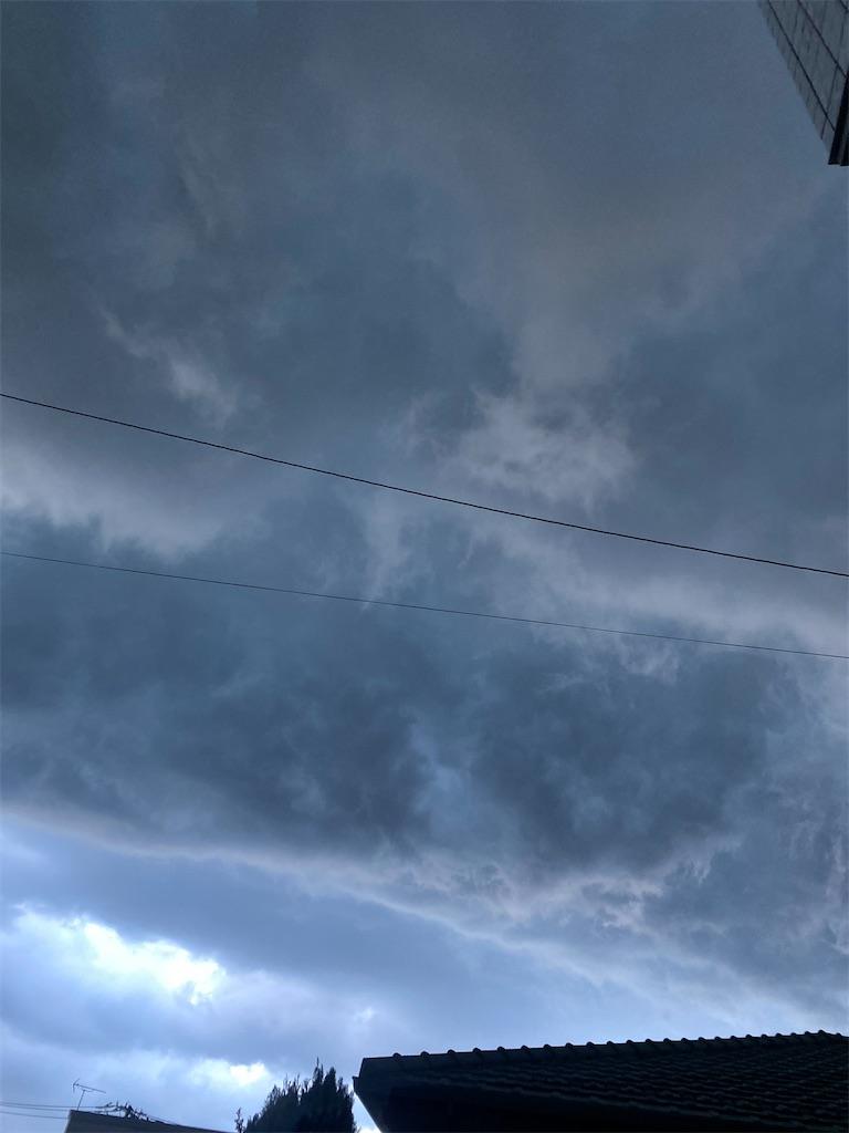 空がほとんど黒い雲に覆われてしまいました。