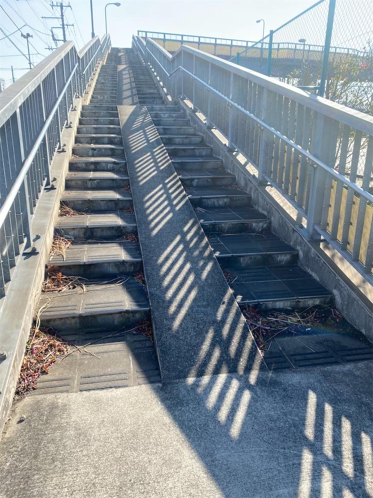 歩道橋の階段