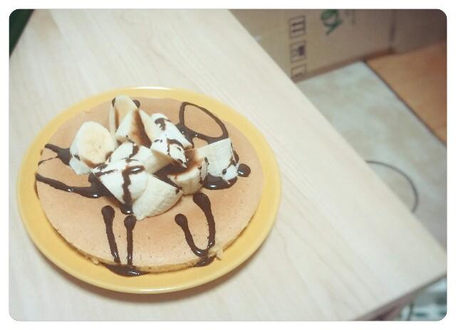チョコバナナホットケーキ