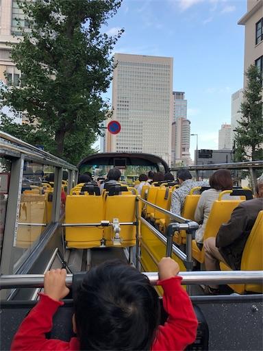東京観光のスカイバスの席