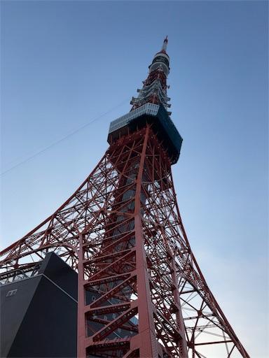 スカイバスに乗ってましたから見る東京タワー