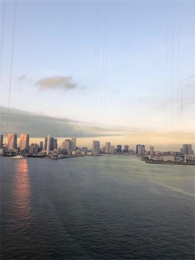 スカイバスに乗って見る東京の高層ビル群