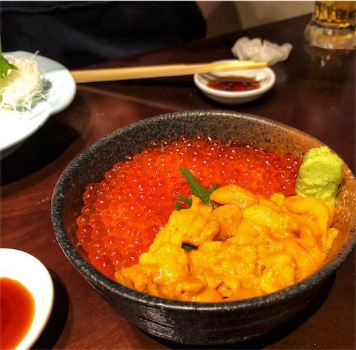 北海道の開陽亭のウニイクラ丼