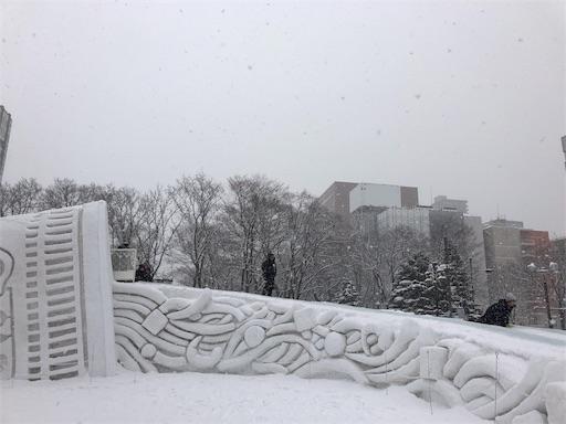 さっぽろ雪まつりの巨大カップラーメン滑り台