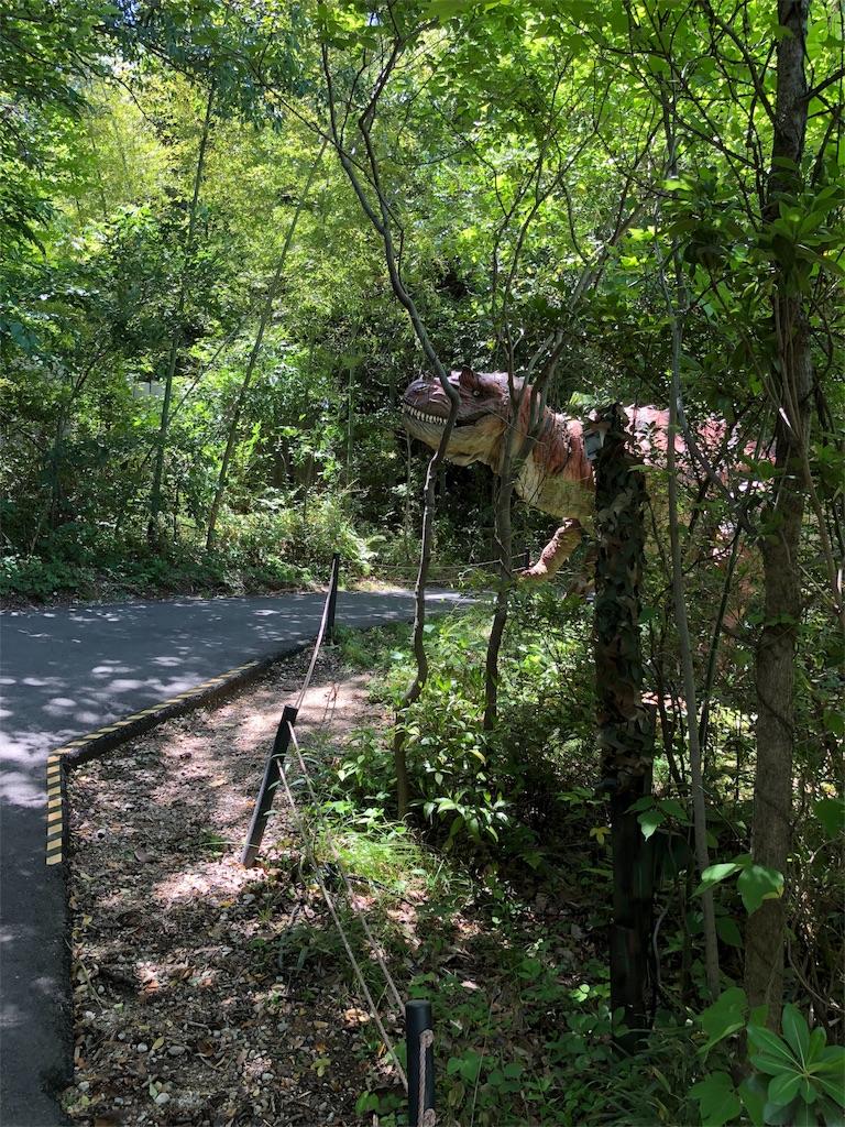 ディノアドベンチャー名古屋で最初に出てくるアロサウルス