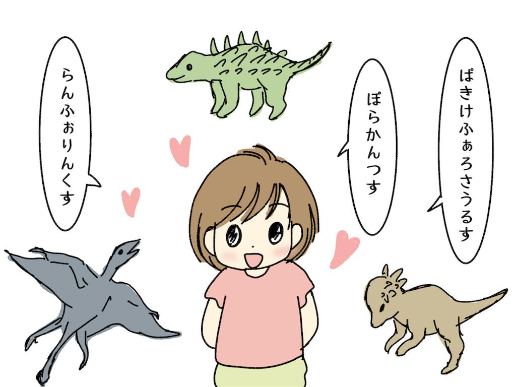 恐竜の名前を喋る幼児
