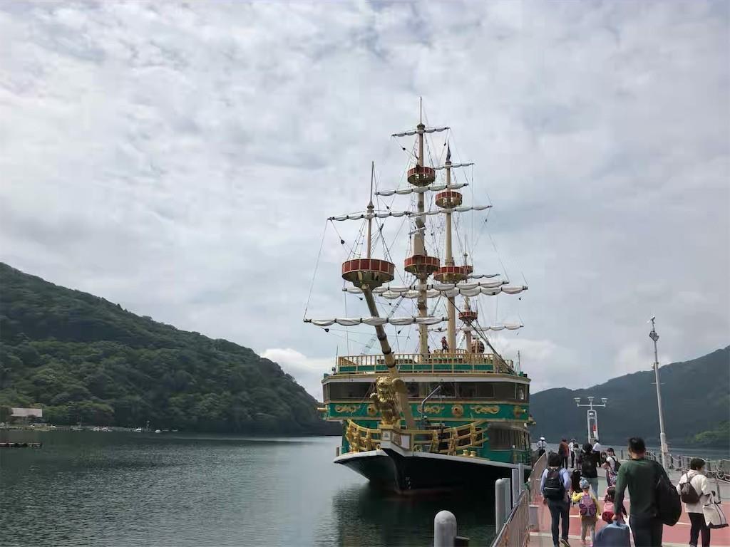 箱根町港へ向かう箱根海賊船