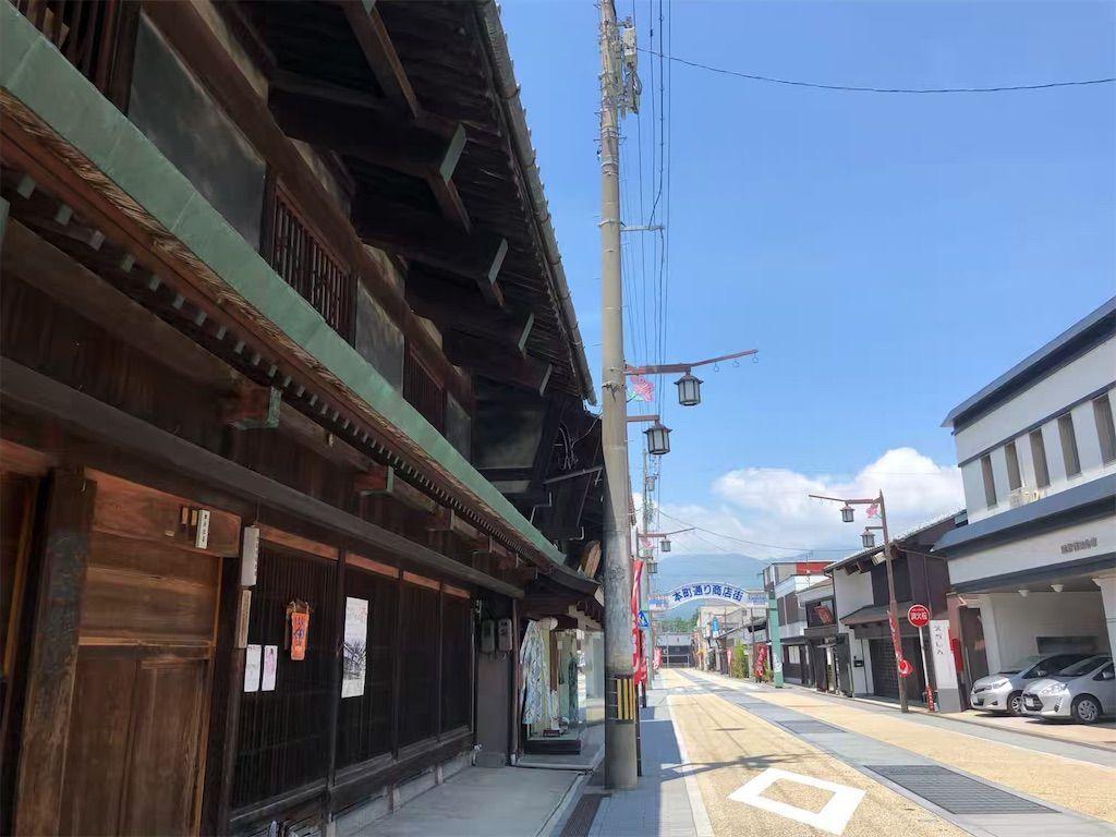 福井県勝山市の本町通り商店街