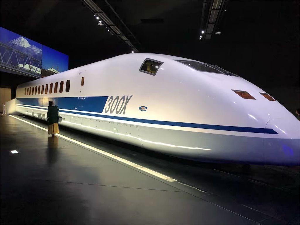 リニア・鉄道館のシンボル展示の新幹線試験電車