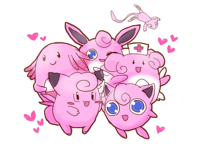 ピンクのポケモンいっぱい