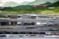 鉄道博物館のジオラマ。流し撮りの練習向き?