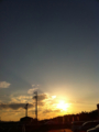 iPhoneの夕日は綺麗だ