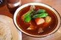 スープカレー発祥の地、アジャンタでおひる。油うきすぎててどきどき
