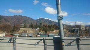 新幹線から見た上田城