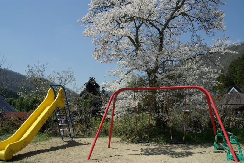 京都新聞写真コンテスト「赤いブランコ」