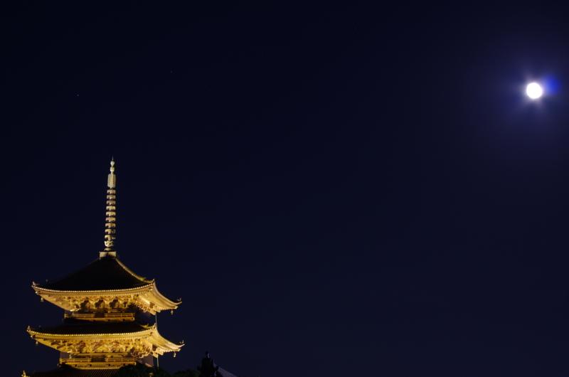 京都新聞写真コンテスト「月明り」
