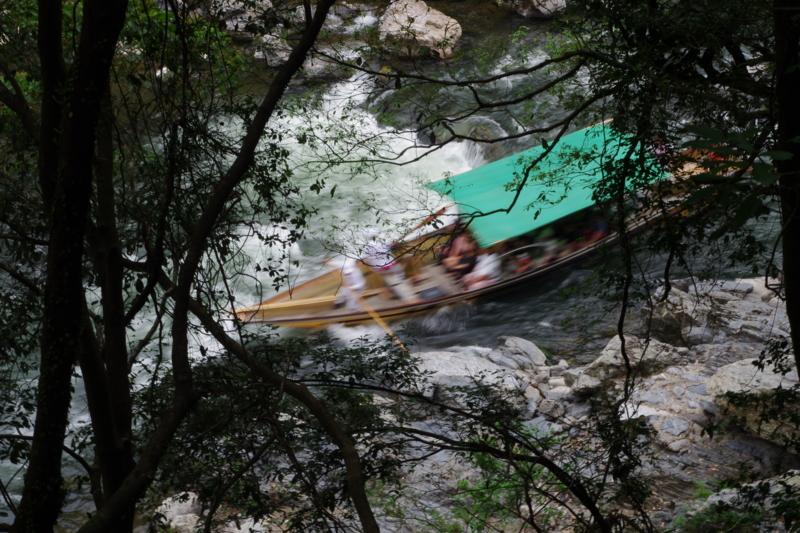 京都新聞写真コンテスト 「スリル響く渓谷」