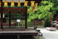 京都新聞写真コンテスト「夜明けの吊り灯篭」