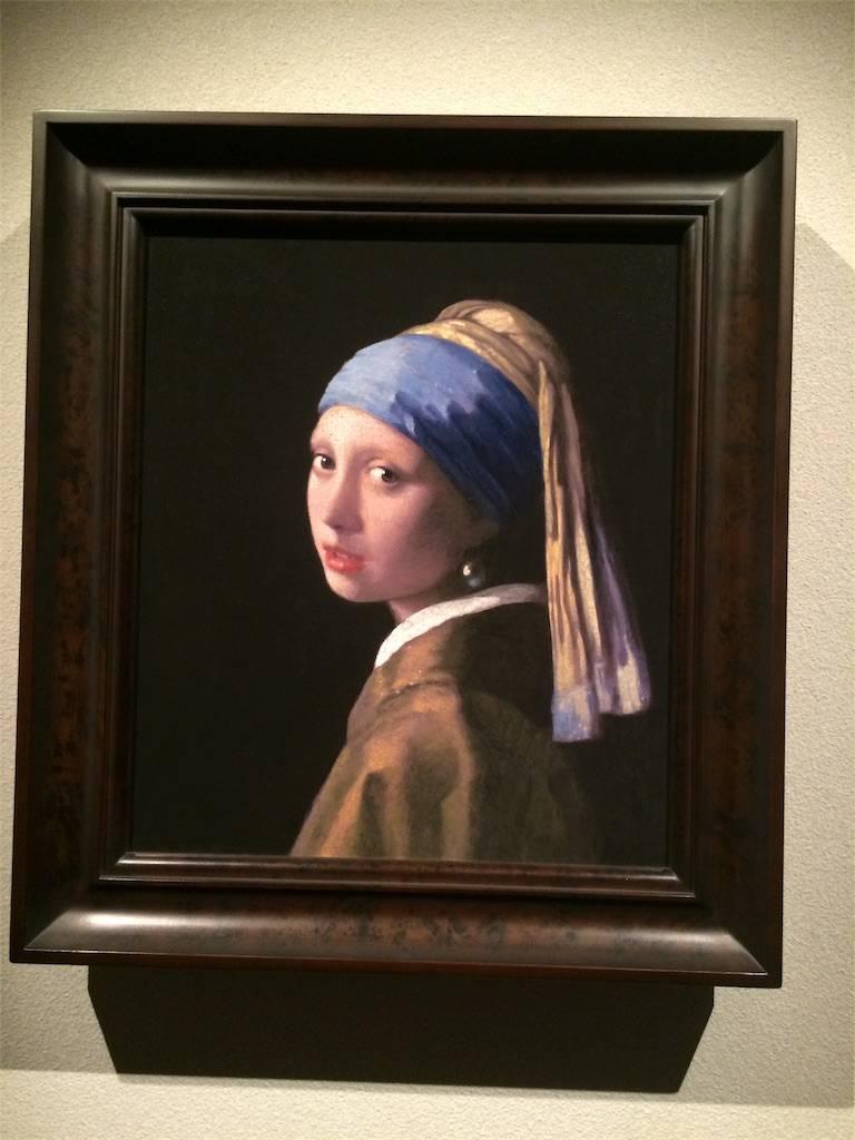 絵画真珠の耳飾りの少女の写真