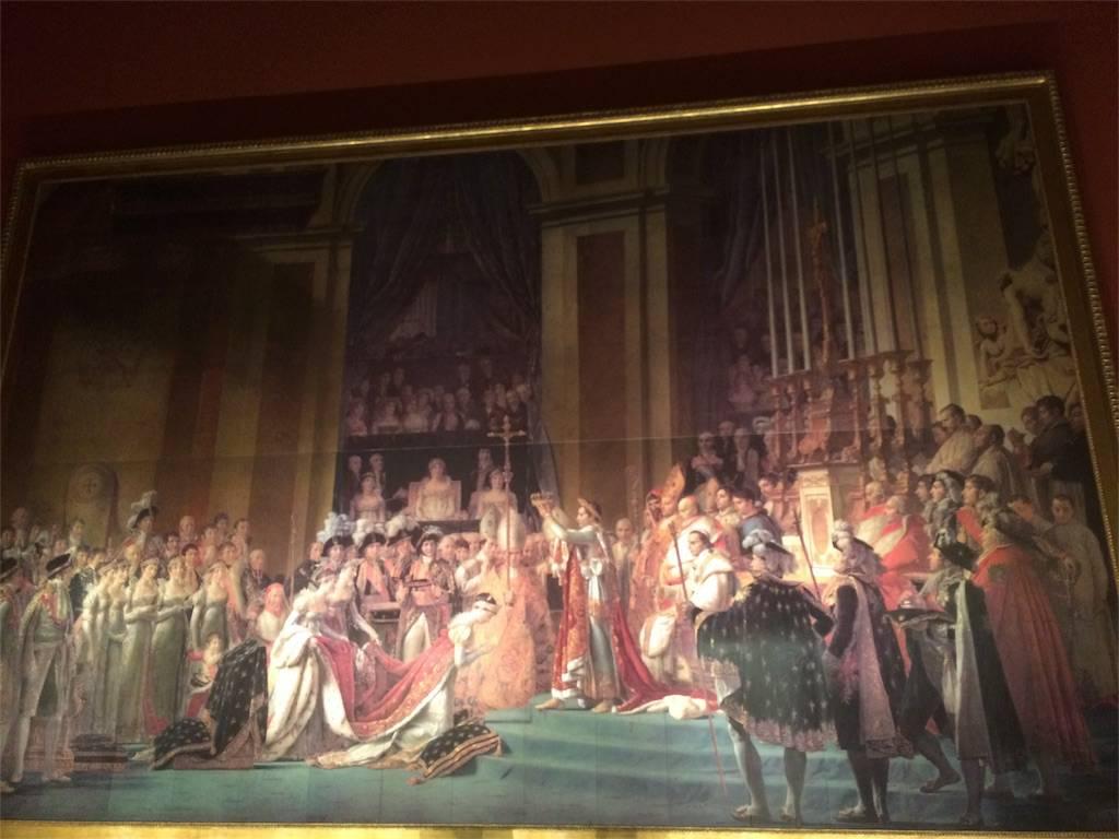 絵画ナポレオン一世の戴冠式と皇妃ジョゼフィーヌの戴冠の写真