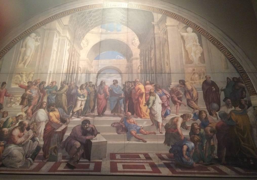 絵画アテナイの学堂の写真