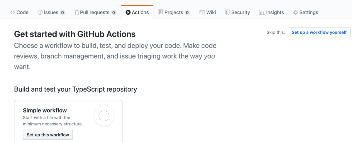 Get started with GitHub Actions