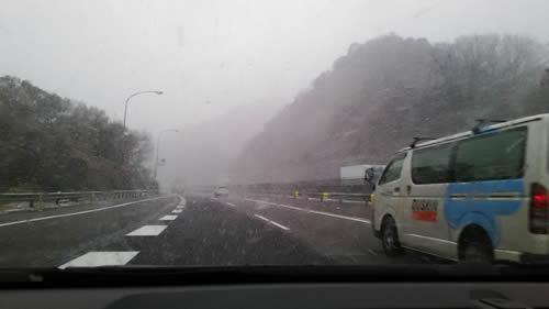 高速道路の状況(愛知県岡崎)